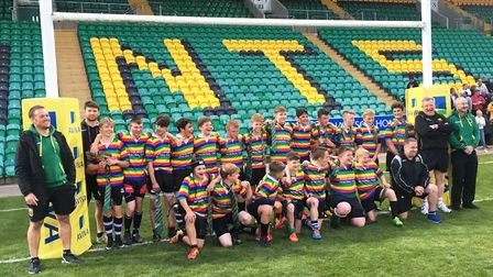 Team photograph - Wisbech Grammar School have busy rugby week. PHOTO: Submitted