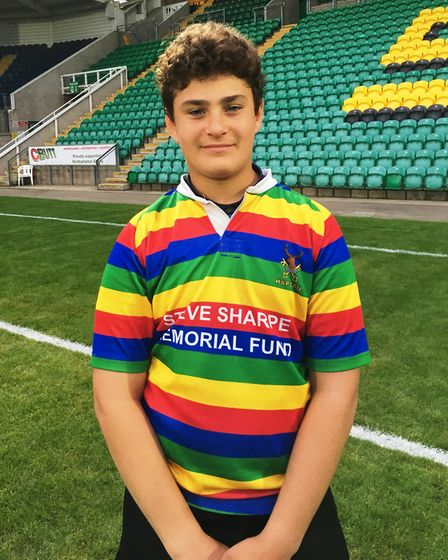 Ashton Webb (pictured) was selected in the final squad of 20 to play in the U13 Northampton Saints D