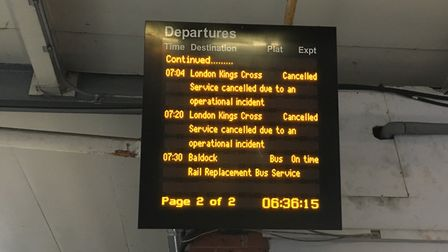 More trains cancelled on the line serving Welwyn Hatfield and Potters Bar. Picture: Mia Jankowicz