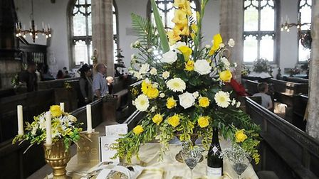 A 50th anniversary display at the church. Picture: Chris Bishop.