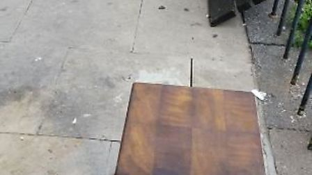 Six hardwood blocks have replaced the benches at Woodhall Shopping Parade. Picture: supplied