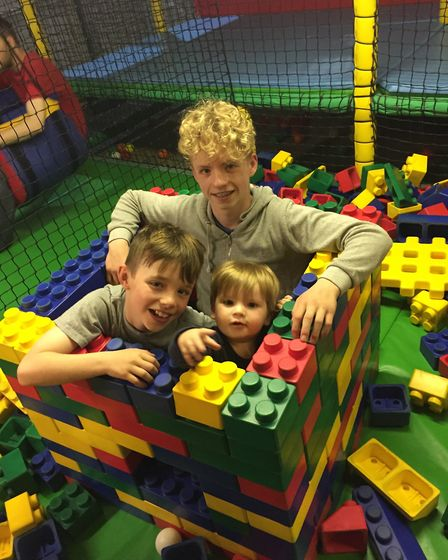 Tommy with his two older brothers Jack (left) and Connor. Picture: Jo-Ann Cousins.