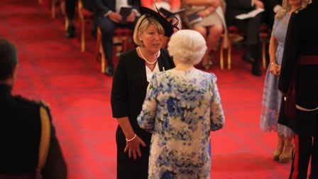 This picture is not for use after 1 August, 2018. Mrs Anita Grodkiewicz from Outwell is made an MBE