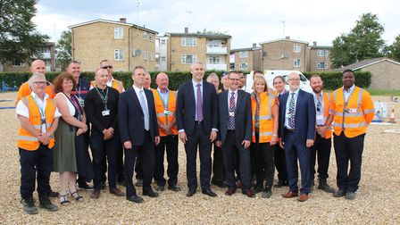 New training centre at the College of West Anglia in Wisbechy opened by MP Steve Barclay, following
