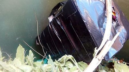Taped box found in Wisbech household bin PHOTO: Georgina Wragg
