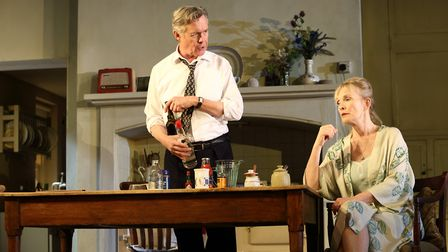 Alex Jennings and Lindsay Duncan as Diana in Hansard at the National Theatre. Picture: Catherine Ash