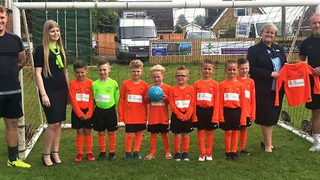 Leverington Sports Youth FC in their new match kit for the 2018/19 season which was sponsored by The