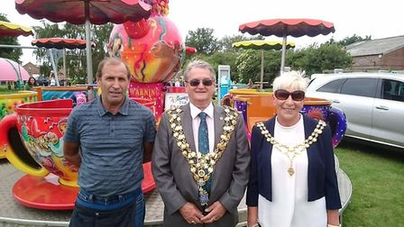 Wisbech Mayor Counillor Peter Human at the Gorefield Show 2018.