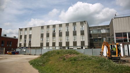 The old building at Dame Alice Owen which is being replaced with new classrooms. Picture: DANNY LOO