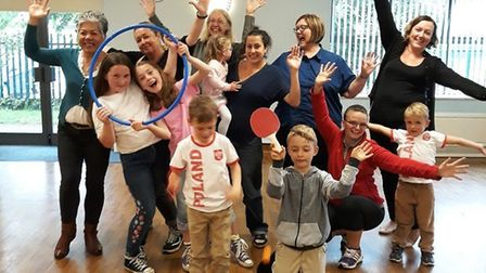 Some of the families that took part in the first Fit and fed event in Wisbech