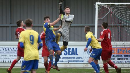 Goalkeeper Sam Vince, seen here in action for the club last season, will be Wisbech Town's new numbe