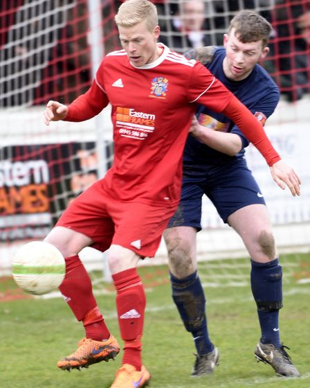 Manager Gary Setchell hopes to keep Michael Frew at Wisbech Town next season. Picture: IAN CARTER
