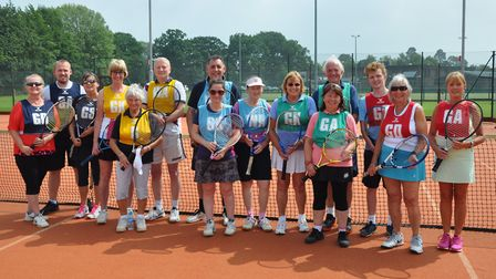 Wisbech Tennis Club hosted their version of a federation cup game on Saturday. PHOTO: Sue Tolliday.