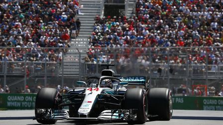 Lewis Hamilton in qualifying for the 2018 Canadian Grand Prix. Picture: Wolfgang Wilhelm / Daimler A