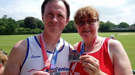 Sally and Ian King completed the 10k Woodhall Spa.