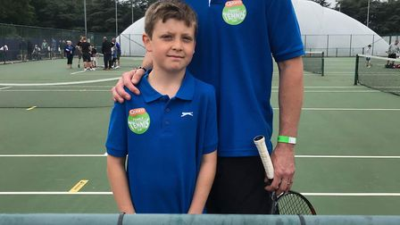 Ollie Beck and his dad James travelled to Nottingham Tennis Centre representing Wisbech Tennis Club