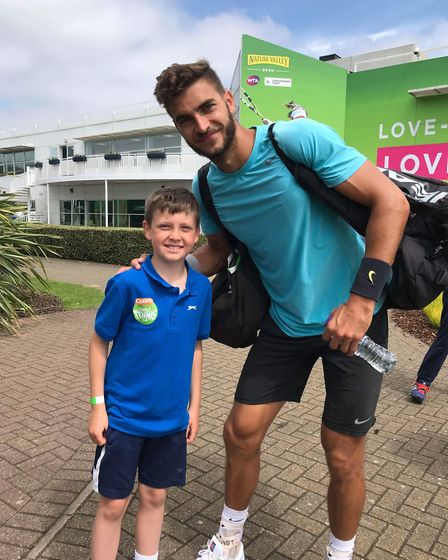 Ollie Beck also met Tobias Simon, a 27-year-old German tennis player who had won his match earlier i