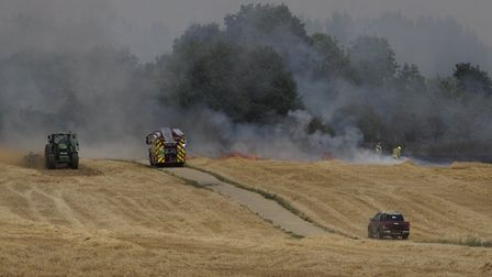 The fire near Knebworth. Picture: Smartapix