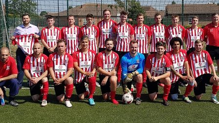 The Wisbech Town Acorns Football Club reserves team was presented with a new kit at their charity fo