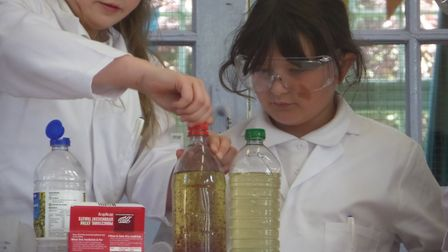 Peartree Primary School pupils enjoying their special science assembly. Picture: Peartree Primary Sc