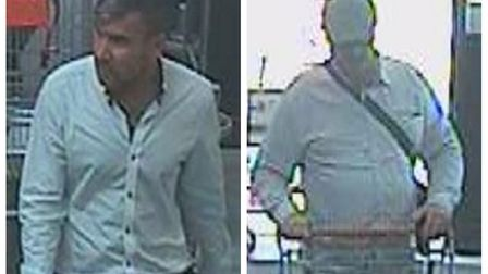 Police believe these men were in the area at the time of the theft and could help them with their in
