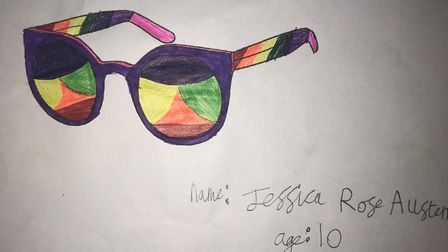 Jessica Rose Austen (pictured), aged 10, has won a new pair of shades in a design competition by Spe
