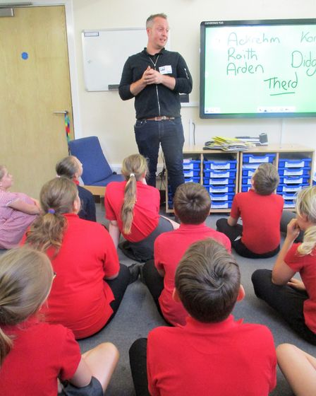 Fantasy author Rudi Jennings visits Wisbech school to talk about writing career and debut novel