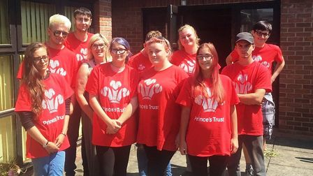Prince's Trust volunteers who tidied up the garden areas at the Alan Hudson Day Centre in Wisbech.