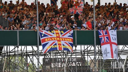 Lewis Hamilton fans out in force at Silverstone during 2018 British Grand Prix qualifying. Picture: