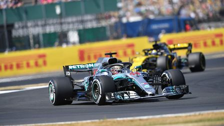 Lewis Hamilton qualified on pole position for the 2018 British Grand Prix at Silverstone. Picture: S