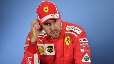 Sebastian Vettel in the post-qualifying press conference at the 2018 British Grand Prix at Silversto