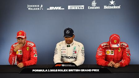 Lewis Hamilton in the post-qualifying press conference at the 2018 British Grand Prix at Silverstone