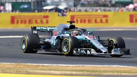 Lewis Hamilton salvaged second place in the 2018 British Grand Prix at Silverstone. Picture: Sean Ra