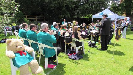 A brass band will play during the afternoon at the Hertford Castle Teddy Bears' Picnic