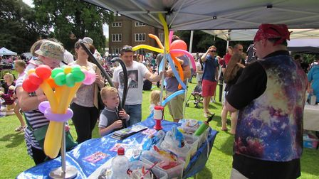 There will be balloon modelling for the kids at the free Hertford Castle Teddy Bears' Picnic