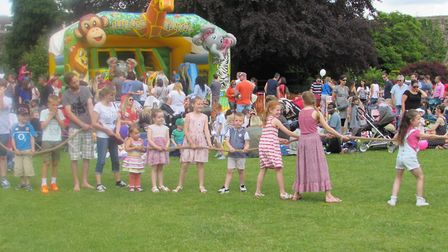 The Hertford Castle Teddy Bears' Picnic includes a family tug of war