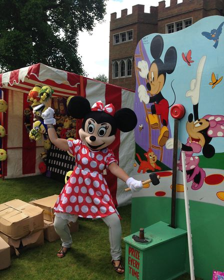 Minnie and Mickey Mouse will make appearances at Hertford Castle's annual Teddy Bears' Picnic