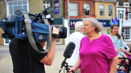 Anti-Trump protesters in Wisbech made their voices heard today (July 13) as they led a peaceful marc