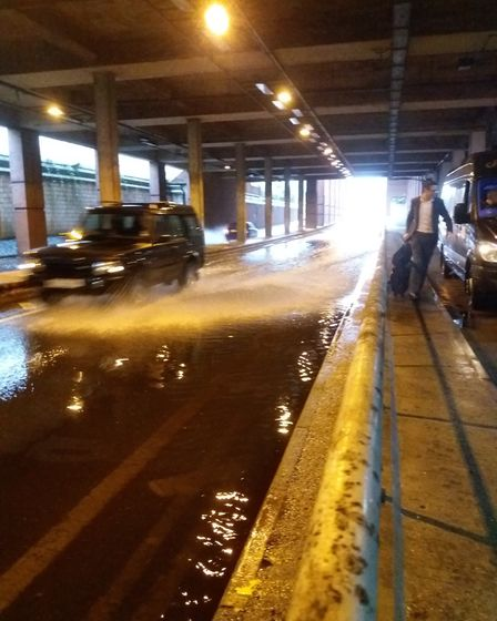 There could be more flooding at the Howard Centre underpass if Welwyn Garden City suffers heavy rain