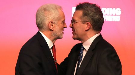 Labour Deputy Leader Tom Watson with Labour leader Jeremy Corbyn (left). Photograph: Peter Byrne/PA.