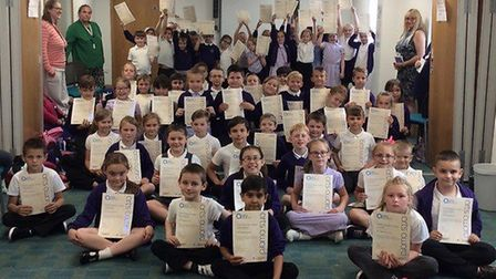 Children of Nene and Ramnoth School in Wisbech took part in the Arts Award Discover day on Wednesday