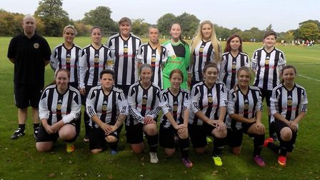 Potters Bar Ladies FC. Picture: supplied