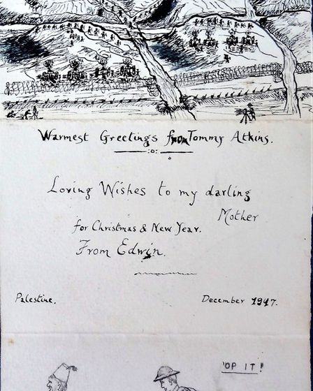 1917 Christmas greetings from Hatfield man, Sapper Edwin Payne, of the Royal Engineers Signal Divisi