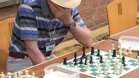 Giant chess game on Centenary Green in Wisbech. PHOTO: Peter King.