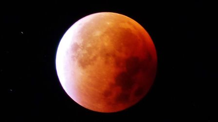 Robin Kersey captured the 'supermoon' eclipse from his Welwyn Garden City garden in 2015. Picture: R