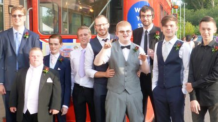 Meadowgate Academy leavers heading to their prom. PHOTO: Emma Bird.