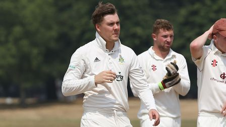 Welwyn Garden City's Louis Champion in the match between Harpenden and WGC. Picture: DANNY LOO