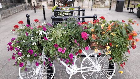 These stunning floral 'bicycle planters' have sprung up around town thanks to the Wisbech in Bloom t
