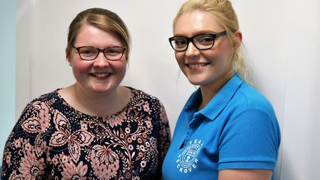 Lily Tombleson and Joanne Johnson of Peckover Prmary, Wisbech. PHOTO: Peckover Primary