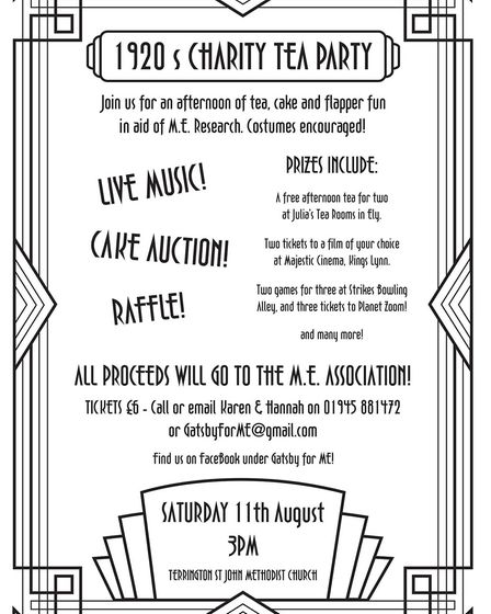 A mother and daughter from Terrington St John are hosting a 1920s Gatsby-themed fund raising tea par